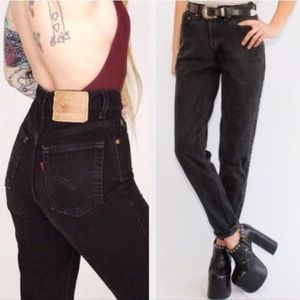 Levi's Vintage 512 High Rise Mom Jeans Tapered 90s